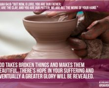 You are our Potter- Isaiah 64:8